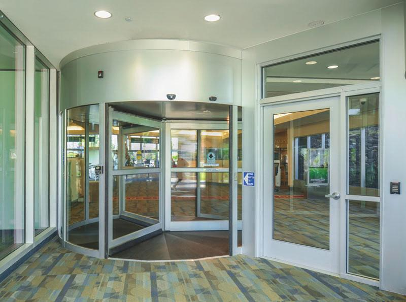 airport revolving and swing door system
