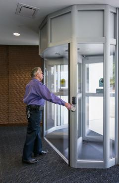 airport revolving secure access doors
