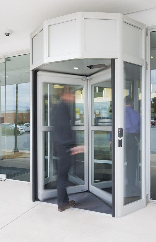 airport secure access revolving door